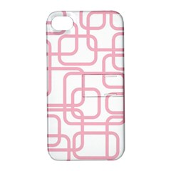 Pink elegant design Apple iPhone 4/4S Hardshell Case with Stand