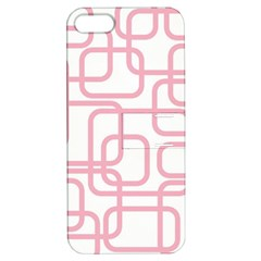 Pink Elegant Design Apple Iphone 5 Hardshell Case With Stand