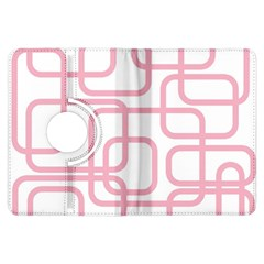 Pink elegant design Kindle Fire HDX Flip 360 Case