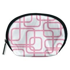 Pink elegant design Accessory Pouches (Medium)