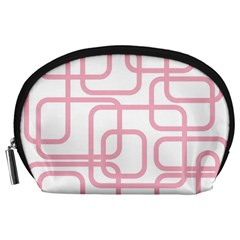 Pink elegant design Accessory Pouches (Large)