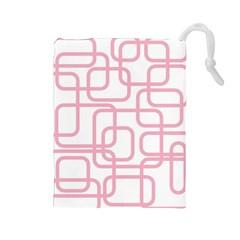 Pink elegant design Drawstring Pouches (Large)