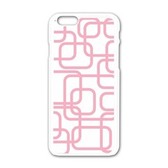 Pink elegant design Apple iPhone 6/6S White Enamel Case