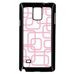 Pink elegant design Samsung Galaxy Note 4 Case (Black)