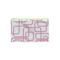 Pink elegant design Cosmetic Bag (XS)