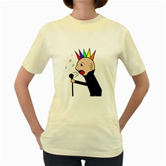 Punker  Women s Yellow T Shirt