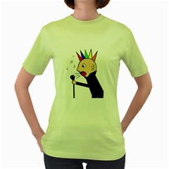 Punker  Women s Green T Shirt