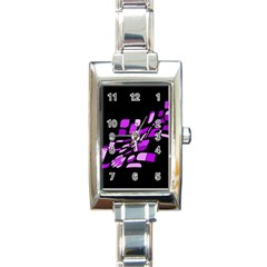 Purple decorative abstraction Rectangle Italian Charm Watch