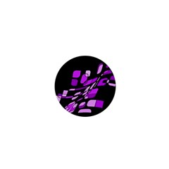 Purple decorative abstraction 1  Mini Magnets