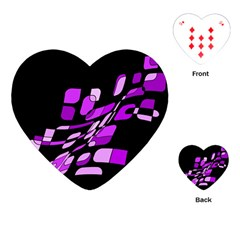 Purple decorative abstraction Playing Cards (Heart)