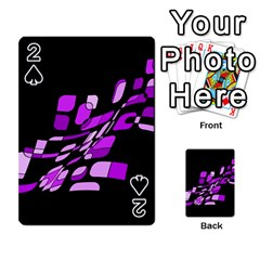 Purple decorative abstraction Playing Cards 54 Designs