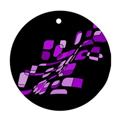Purple decorative abstraction Round Ornament (Two Sides)