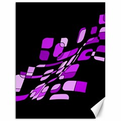 Purple decorative abstraction Canvas 12  x 16