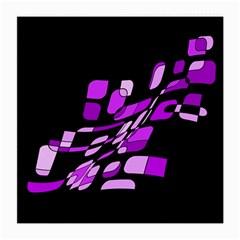Purple decorative abstraction Medium Glasses Cloth