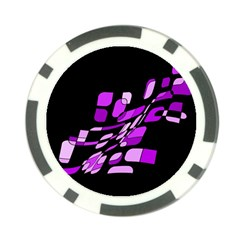 Purple decorative abstraction Poker Chip Card Guards