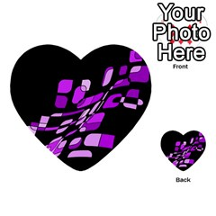 Purple decorative abstraction Multi-purpose Cards (Heart)
