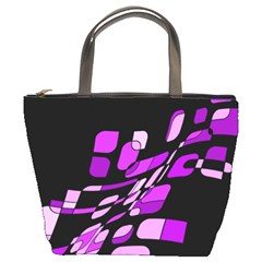 Purple decorative abstraction Bucket Bags