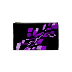 Purple decorative abstraction Cosmetic Bag (Small)