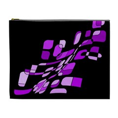 Purple decorative abstraction Cosmetic Bag (XL)