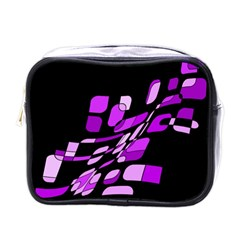 Purple decorative abstraction Mini Toiletries Bags