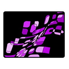 Purple decorative abstraction Fleece Blanket (Small)