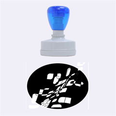 Purple decorative abstraction Rubber Oval Stamps
