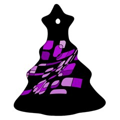 Purple decorative abstraction Ornament (Christmas Tree)