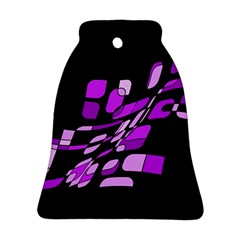 Purple decorative abstraction Bell Ornament (2 Sides)