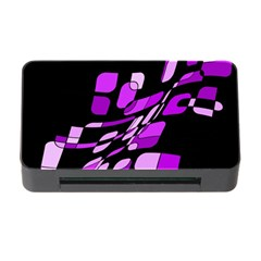Purple decorative abstraction Memory Card Reader with CF