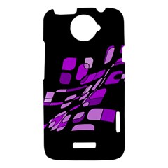 Purple decorative abstraction HTC One X Hardshell Case