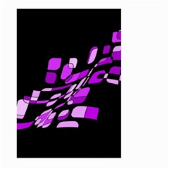 Purple decorative abstraction Large Garden Flag (Two Sides)