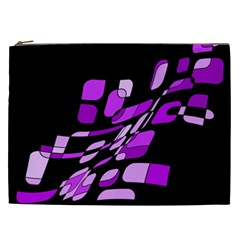 Purple decorative abstraction Cosmetic Bag (XXL)
