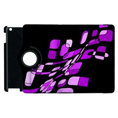 Purple decorative abstraction Apple iPad 3/4 Flip 360 Case