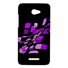 Purple decorative abstraction HTC Butterfly X920E Hardshell Case