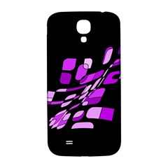 Purple decorative abstraction Samsung Galaxy S4 I9500/I9505  Hardshell Back Case