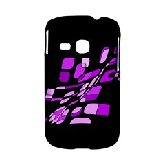 Purple decorative abstraction Samsung Galaxy S6310 Hardshell Case