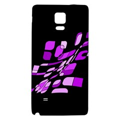 Purple decorative abstraction Galaxy Note 4 Back Case