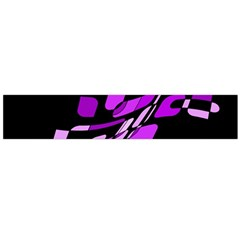 Purple decorative abstraction Flano Scarf (Large)