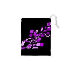 Purple decorative abstraction Drawstring Pouches (XS)