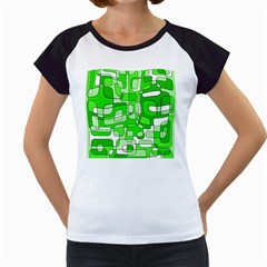 Green decorative abstraction  Women s Cap Sleeve T