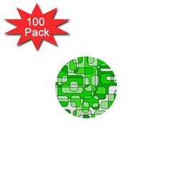 Green decorative abstraction  1  Mini Buttons (100 pack)