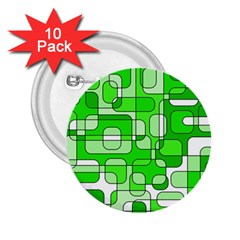 Green decorative abstraction  2.25  Buttons (10 pack)