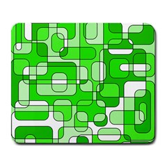 Green decorative abstraction  Large Mousepads