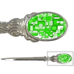 Green decorative abstraction  Letter Openers