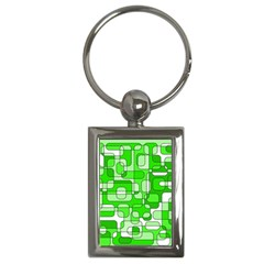 Green decorative abstraction  Key Chains (Rectangle)
