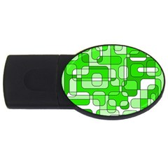 Green decorative abstraction  USB Flash Drive Oval (2 GB)