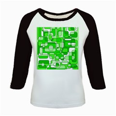 Green decorative abstraction  Kids Baseball Jerseys