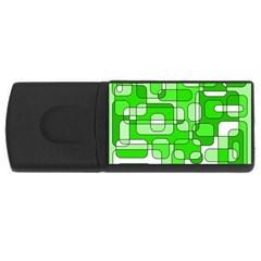 Green decorative abstraction  USB Flash Drive Rectangular (4 GB)