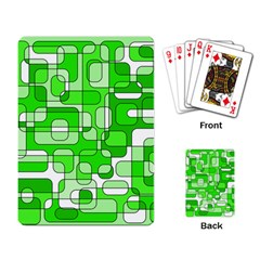Green decorative abstraction  Playing Card