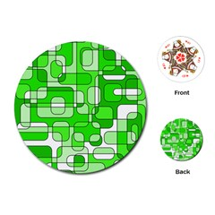 Green decorative abstraction  Playing Cards (Round)